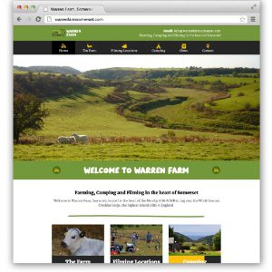 The new Warren Farm website home page